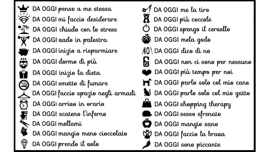 10 buoni propositi by annaBIBLO'