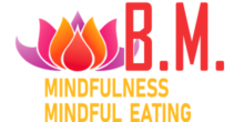 Logo B.M. mindfulness, mindful eating - footer
